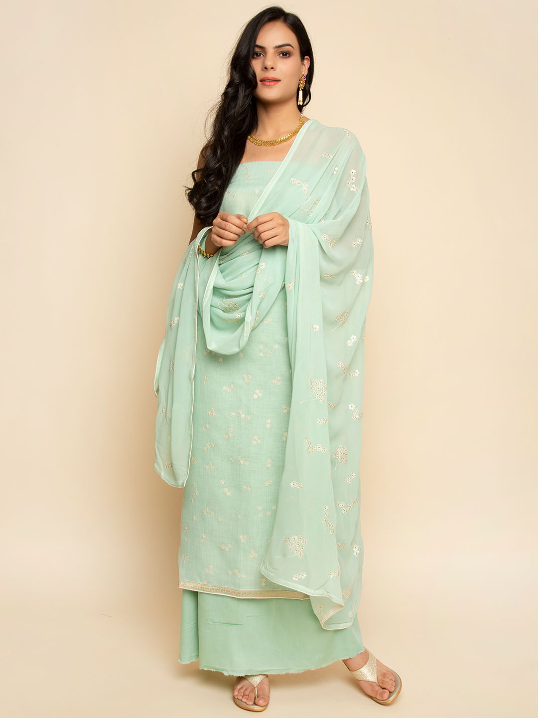 LINEN EMBROIDERY SUIT