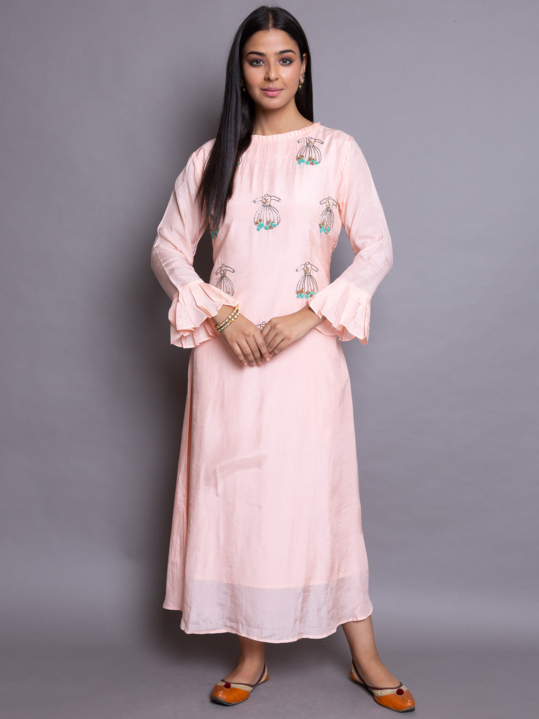 Pinkish Embroidery Suit