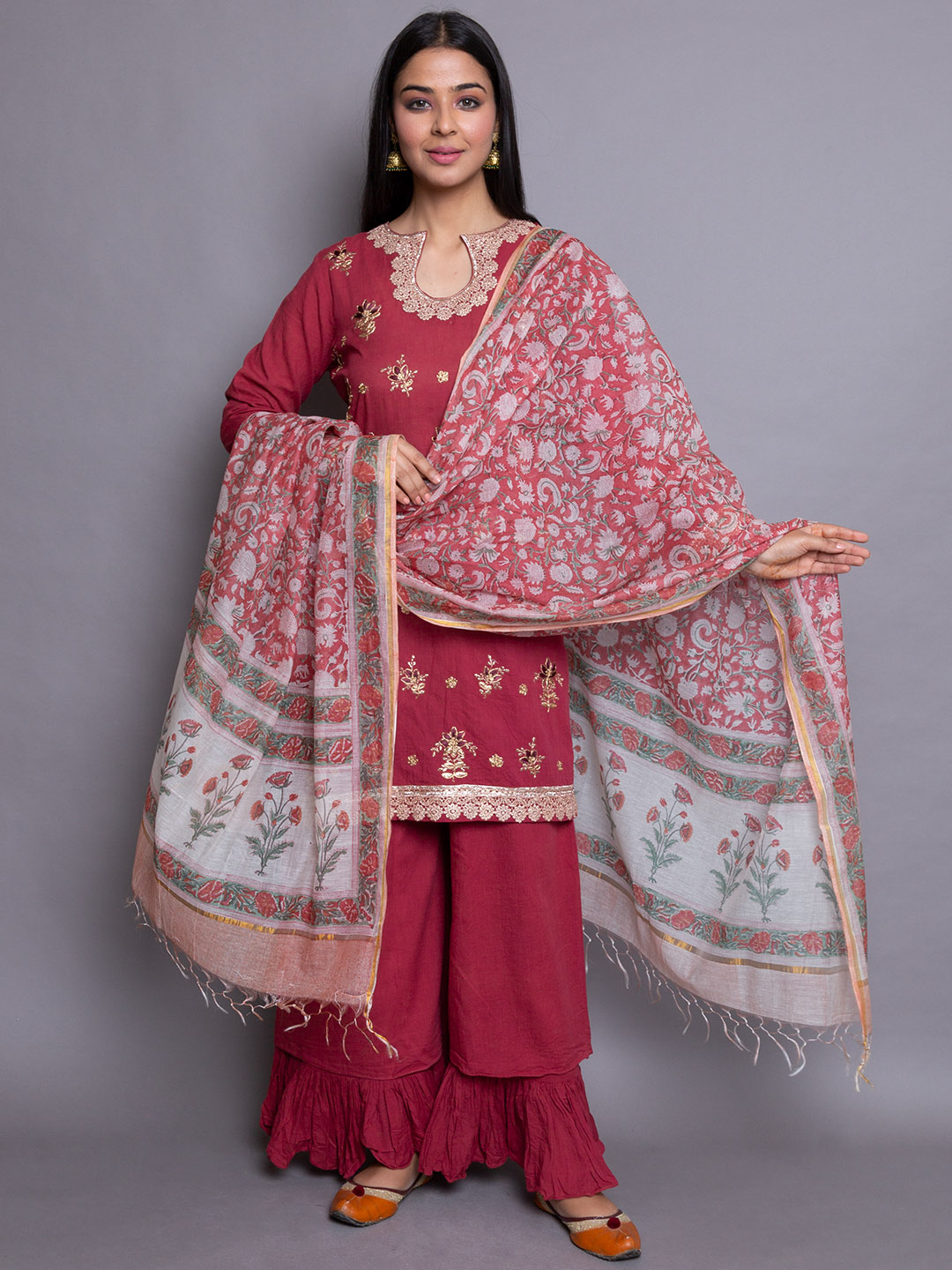 Party Wear Embroidery Suit