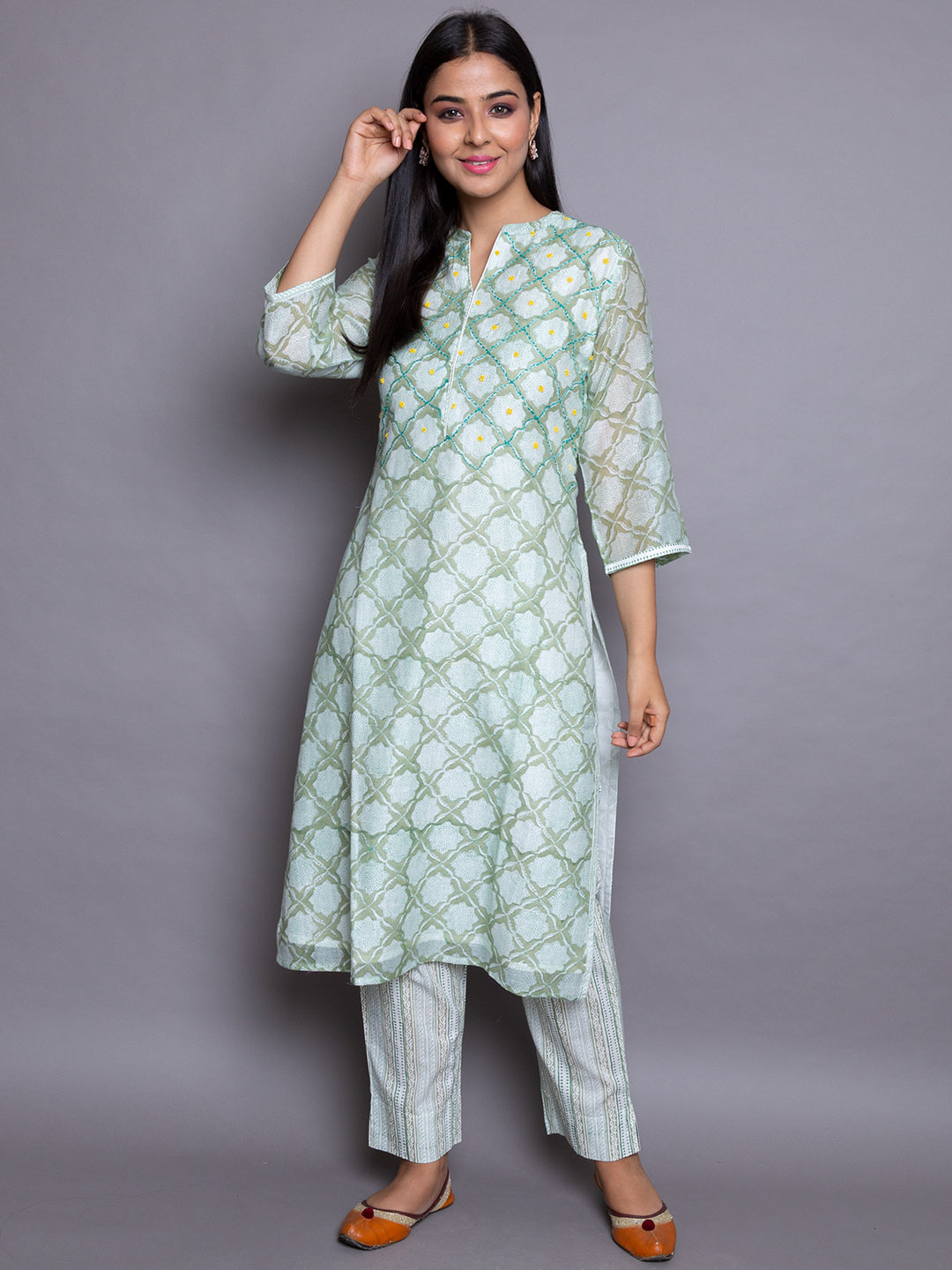 Printed Inner Suit With Pant
