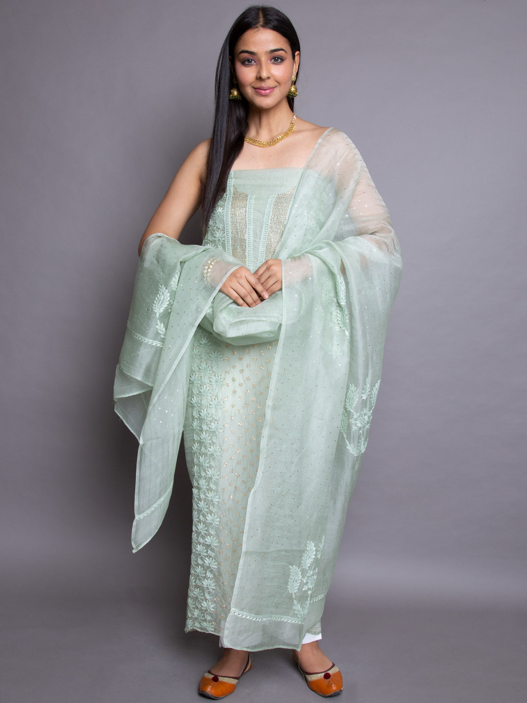 Pure Green Embroidery Suit