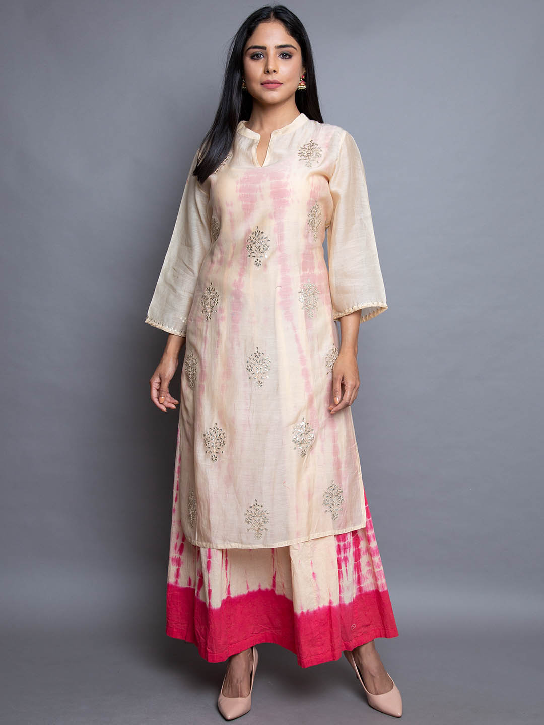CHANDERI WITH GOTA EMBROIDERY SUIT
