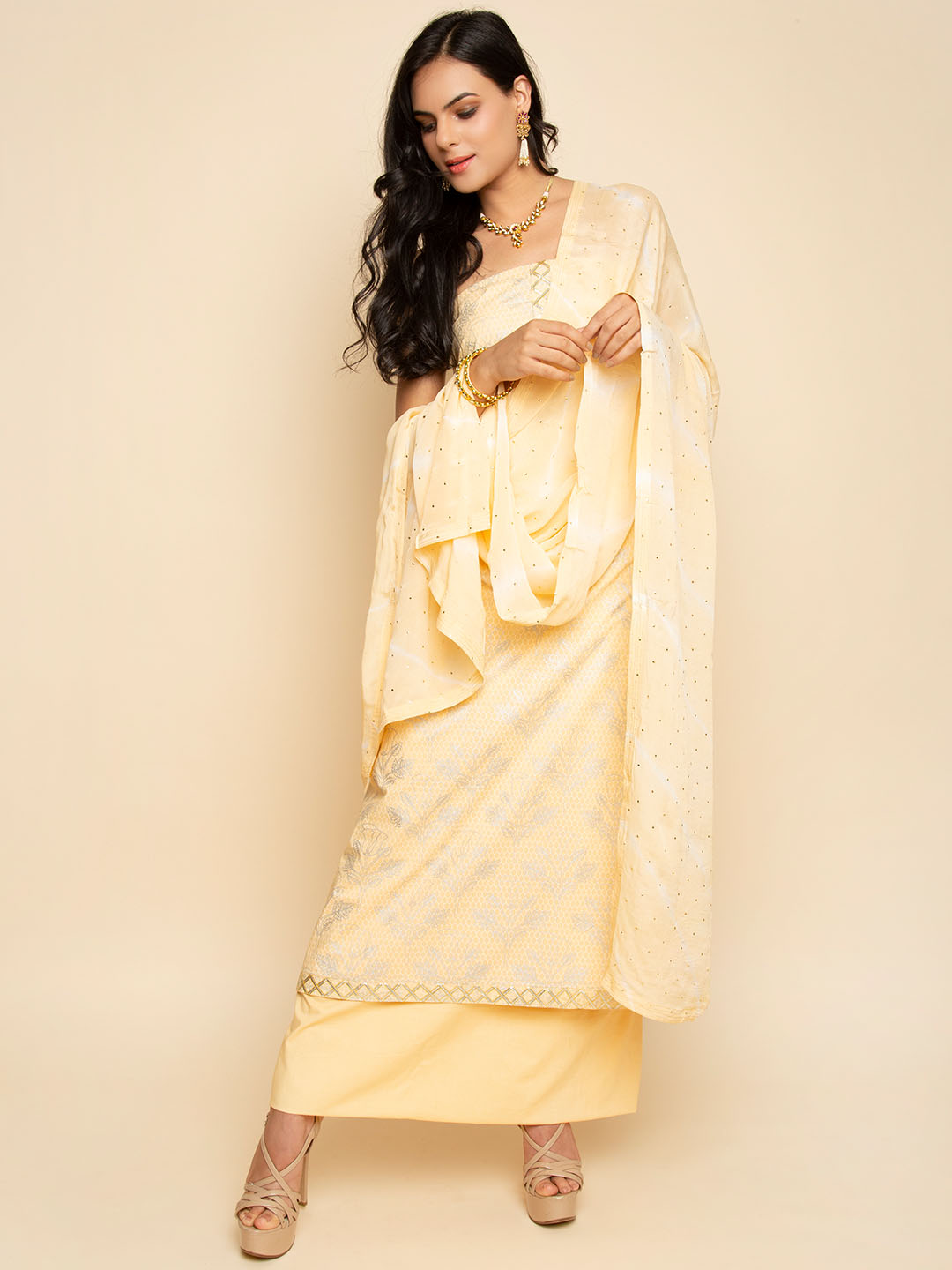 GOTA EMBROIDERY SUIT