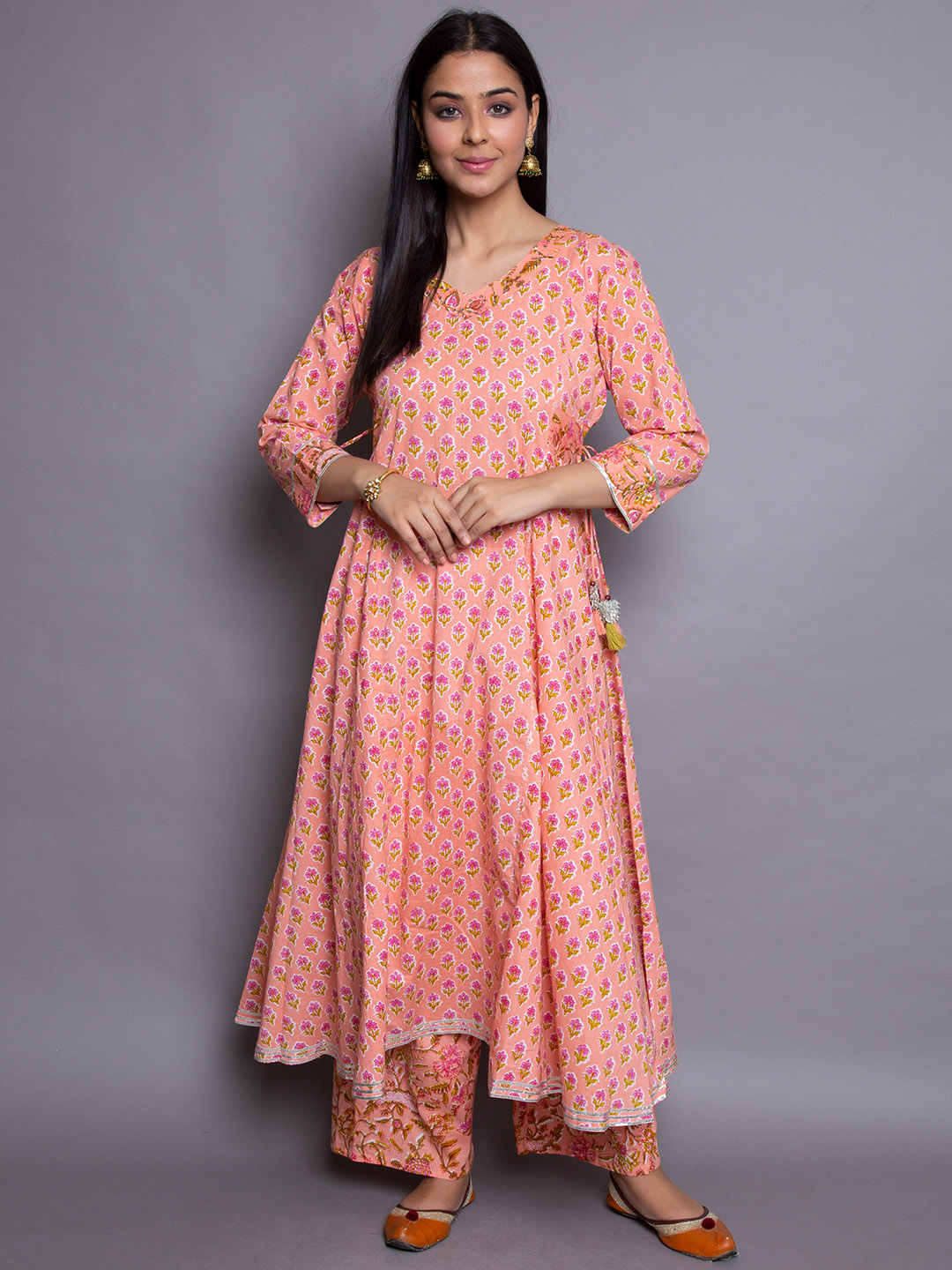 Beautiful Gown Suit With Plazzos