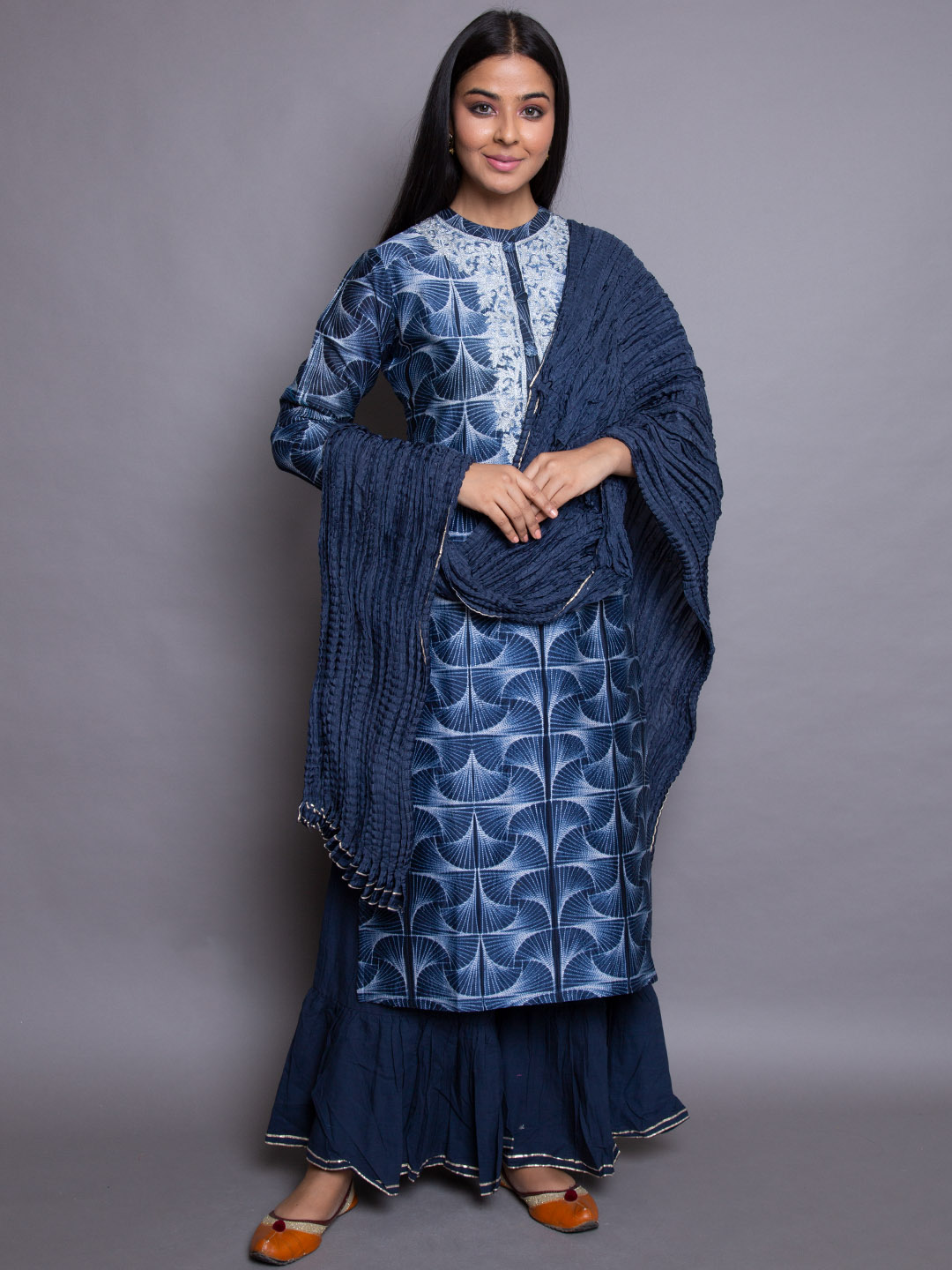 Zari Embroidery printed suit