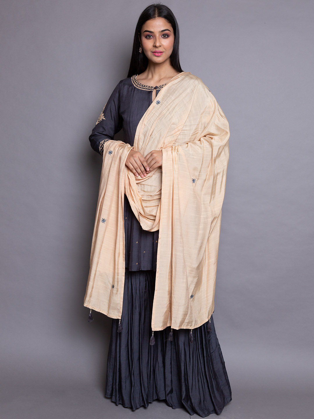 Heavy Embroidery With Sharara Suit