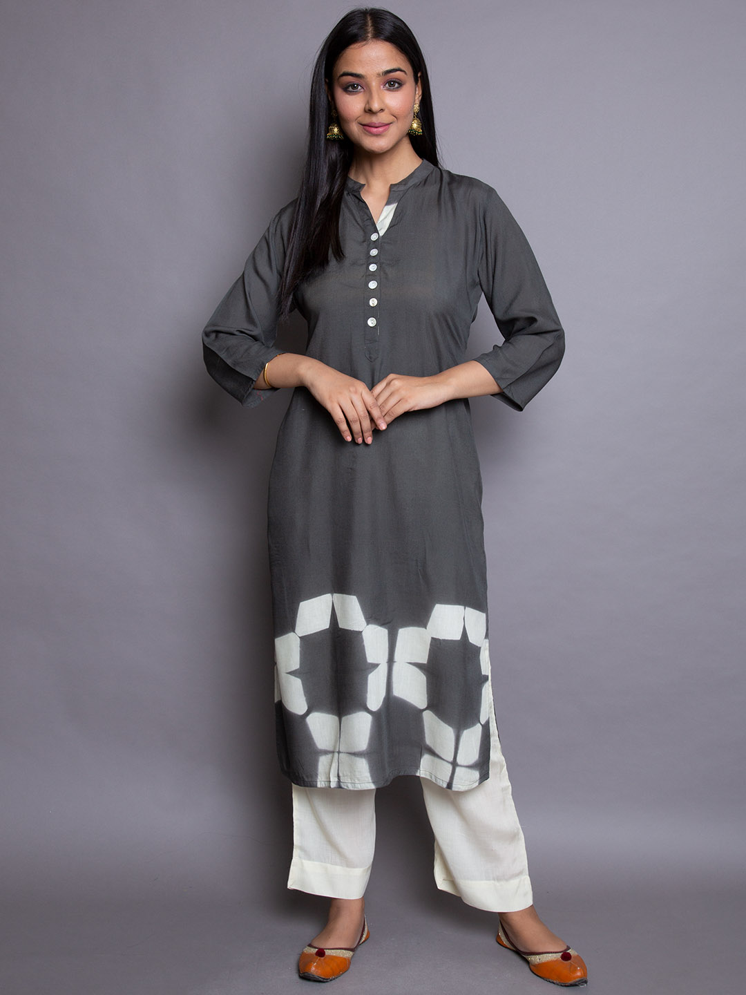 Cotton Suit With Plazzos