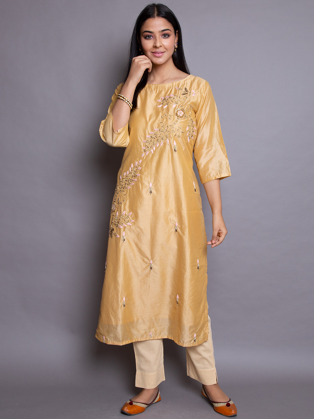 Blissful Silk  Embroidery Suit