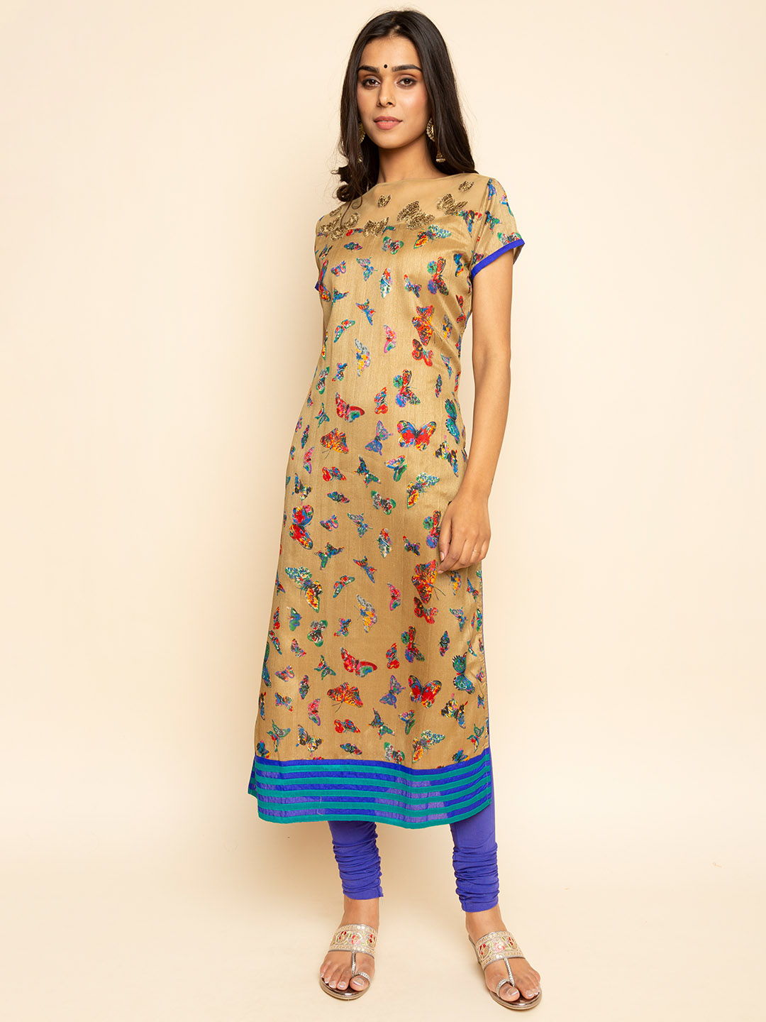 Sequence  Embroidery Butterfly kurta