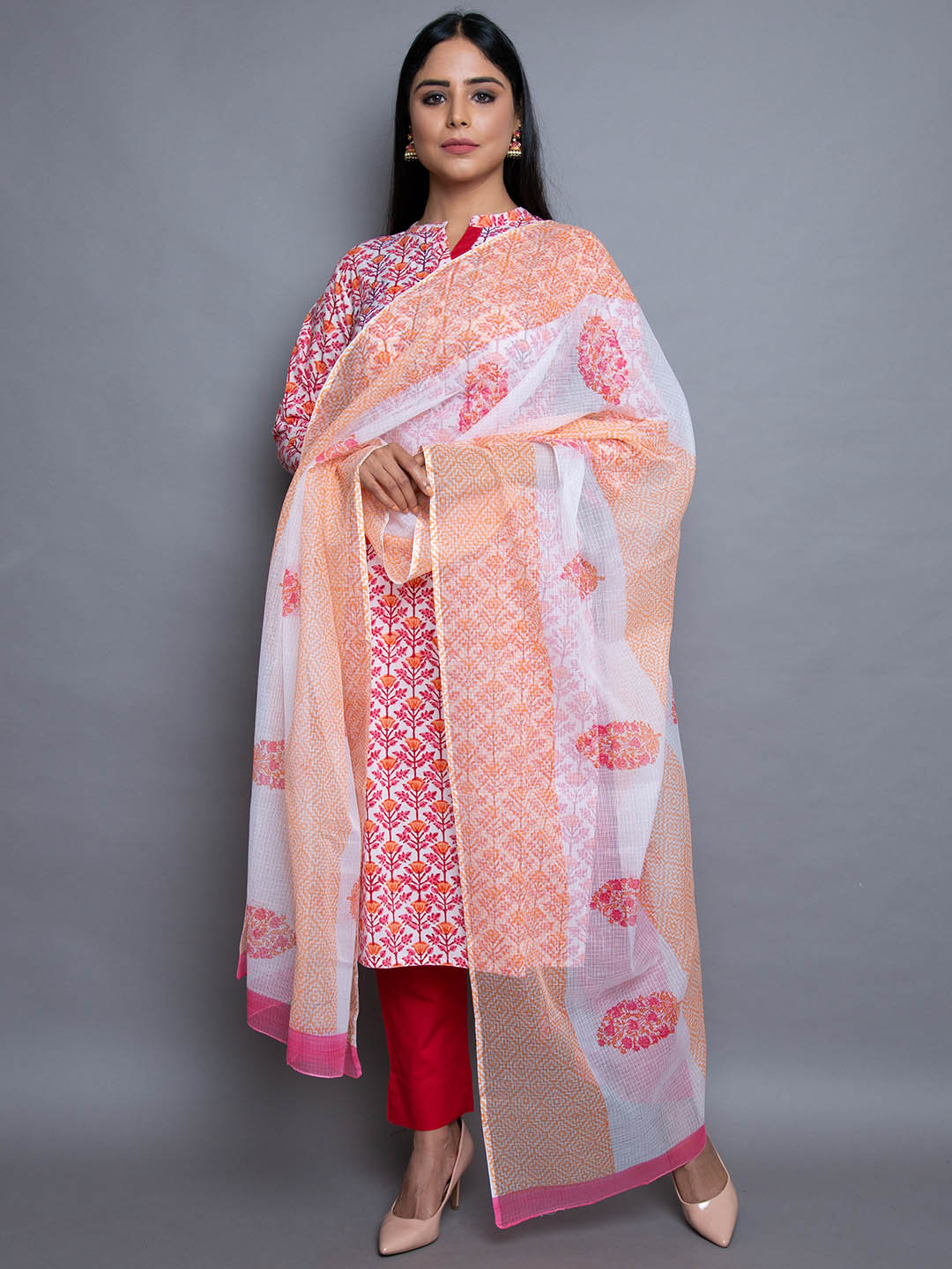 Cotton Printed Suit With Dupatta