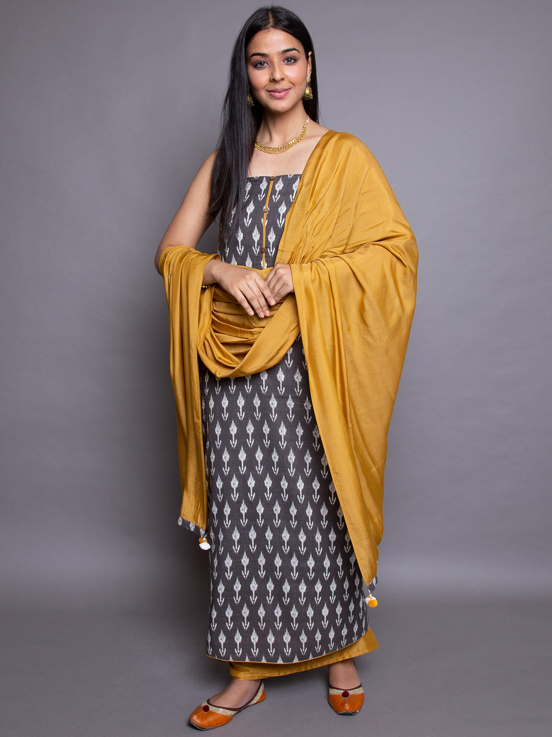 Printed Suit With Dupatta