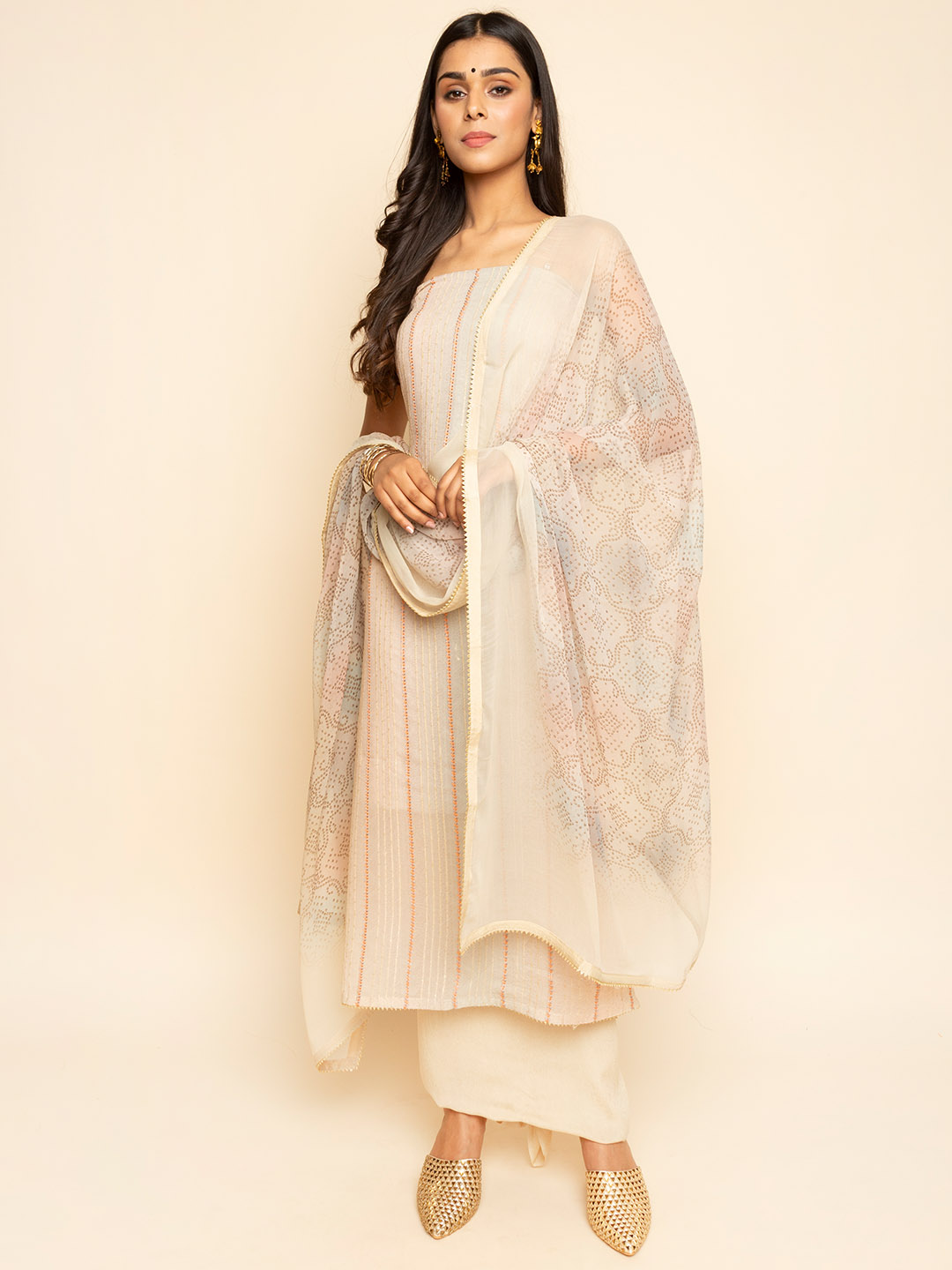 GEORGETTE SEQUNENCE EMBROIDERY SUIT