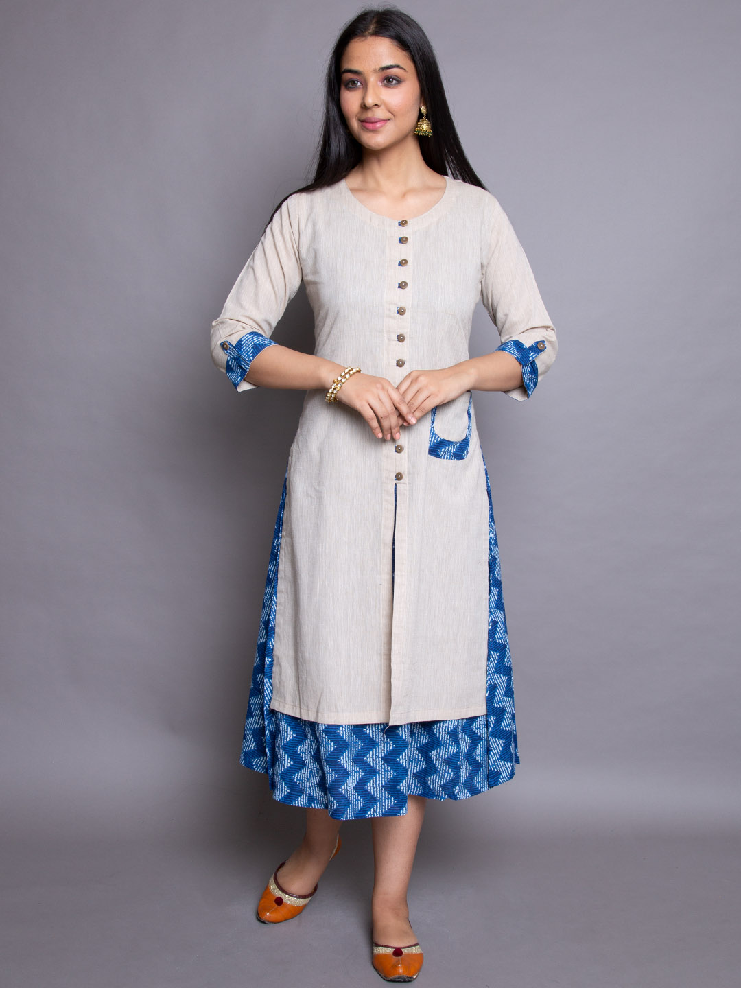 Cotton Frock Dress With Pocket