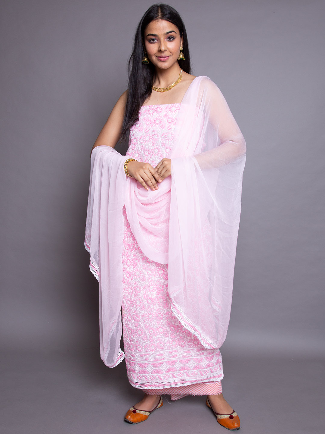 Full Embroidery Suit With Dupatta
