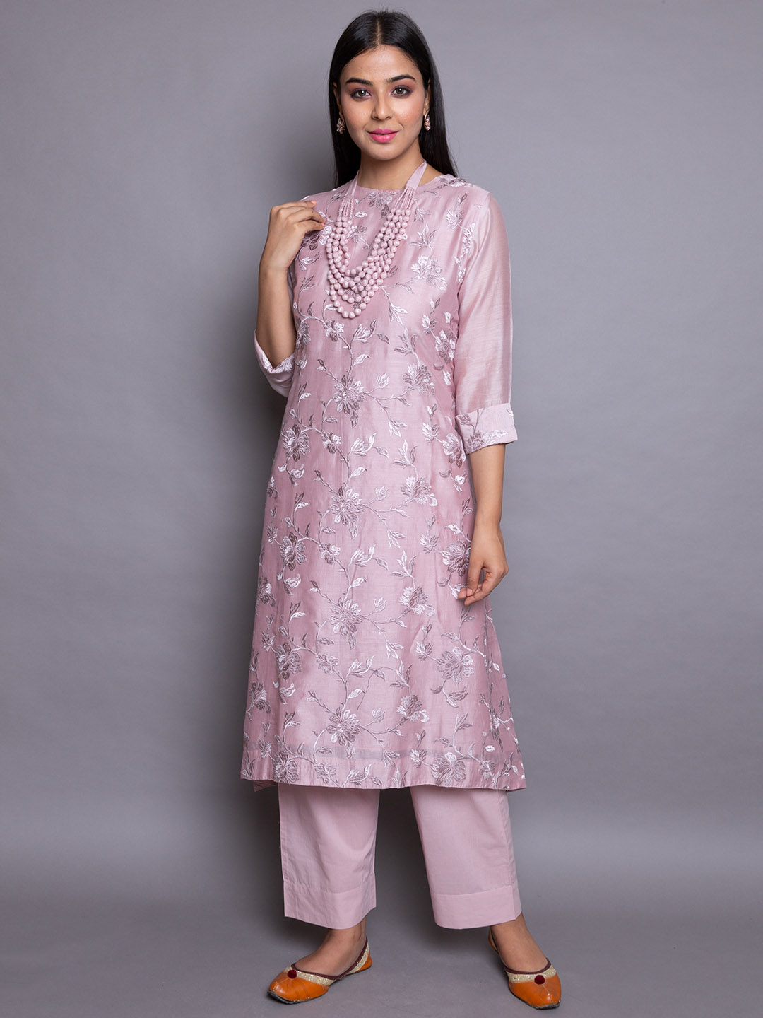 Embroidery  Kurta With Cotton Pant